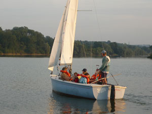 Sailing at Sutton Bingham